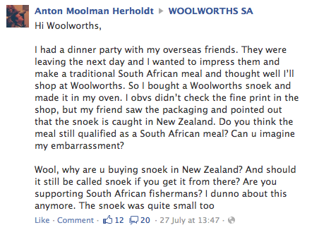 Outrage Over Small New Zealand Snoek In Woolies